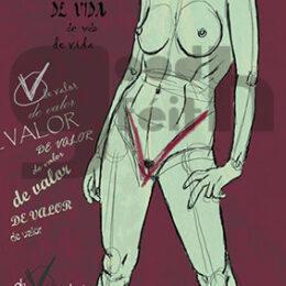 Exposición: V de Vagina. Ilustración: V de Vagina