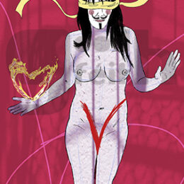 Exposición: V de Vagina. Ilustración: V de Venda