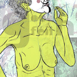 Exposición: V de Vagina. Ilustración: V de Vitalidad
