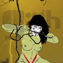 Exposición: V de Vagina. Ilustración: V de Voltaje
