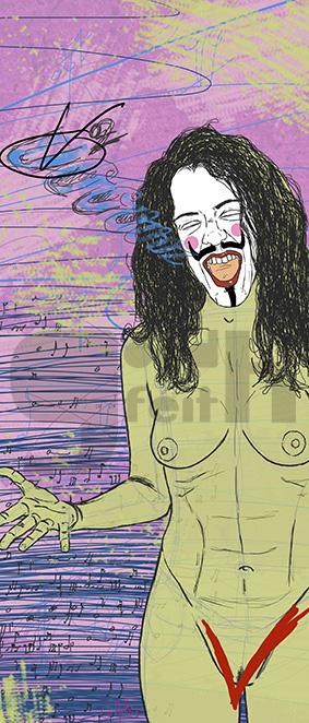 Exposición: V de Vagina. Ilustración: V de Voz. Goodféith