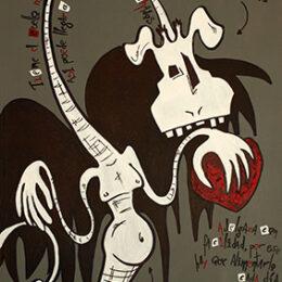 Exposición: Monstruos. Ilustración: Monstruo del amor