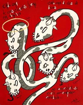 Exposición: Monstruos. Ilustración: Monstruo de la envidia