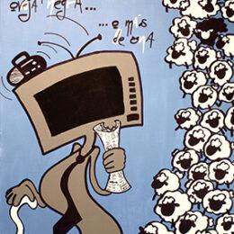 Exposición: Monstruos. Ilustración: Monstruo de los medios de comunicación