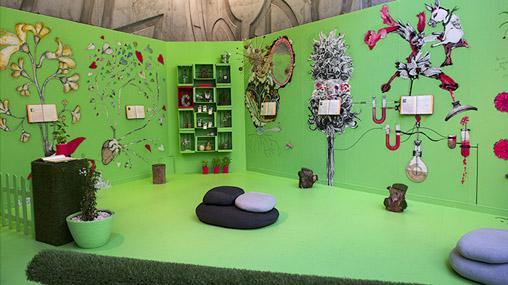 Exposición Jardín Ilustrado. Centro de historia, Zaragoza. Proyecto Cierzo