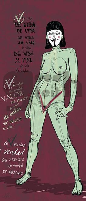 Ilustración V de Vagina