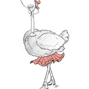 Ilustración Avestruz