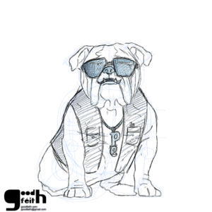 sketching. Perro.