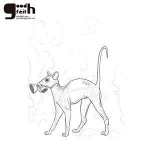 sketching. Gato