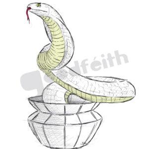 Exposición: HayVariasVecesUnCirco. Ilustración: Serpiente
